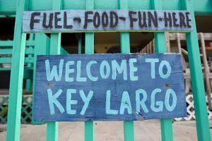 A Colorful Sign Welcoming People to Key Largo by Mike Theiss