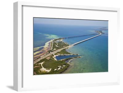 Aerial View of the Famous Tourist Destination Bahia Honda Bridge and State Park