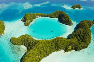 An Aerial View of Palau's Rock Islands in the Turquoise Waters of the Pacific Ocean by Mike Theiss