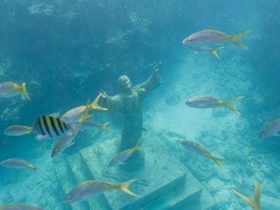 Christ of the Deep Statue in a Coral Reef State Park in the Keys by Mike Theiss