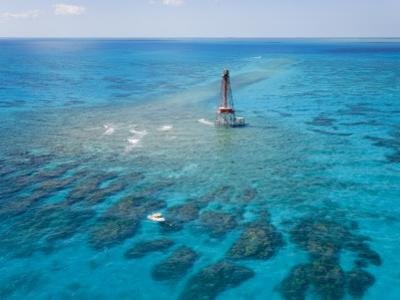 Coral Reefs Seen During Spring Low Tides at Sombrero Key Lighthouse by Mike Theiss