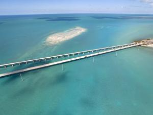 Famous Seven Mile Bridge and Turquoise Waters in the Florida Keys by Mike Theiss