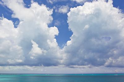 Large Clouds over Grace Bay, in the Turks and Caicos Islands by Mike Theiss