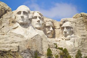 Low Angle View of the Presidents on Mount Rushmore by Mike Theiss
