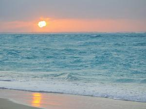 Sunset in Paradise over the Caribbean and on a Beach by Mike Theiss