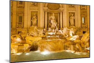 The Trevi Fountain Illuminated at Night by Mike Theiss