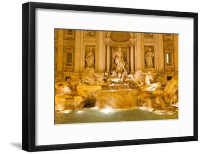 The Trevi Fountain Illuminated at Night