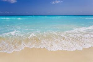 White Sand and Turquoise Waters at the Beaches in Cancun, Mexico by Mike Theiss