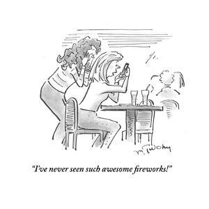 """I've never seen such awesome fireworks!"" - Cartoon by Mike Twohy"