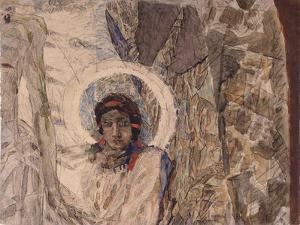 Angel's Head, 1887 by Mikhail Alexandrovich Vrubel
