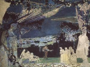 Italy. Night in Naples. Curtain Design for the Private Russian Opera, 1891 by Mikhail Alexandrovich Vrubel