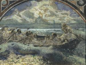 Jesus Walks on Water, 1890 by Mikhail Alexandrovich Vrubel