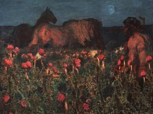 Night Is Coming, 1900 by Mikhail Alexandrovich Vrubel