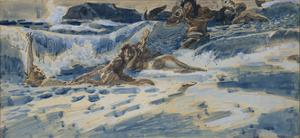 Playing Naiads and Tritons, 1896-1898 by Mikhail Alexandrovich Vrubel