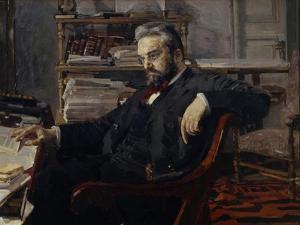 Portrait of Konstantin Dmitryevich Artsybushev (1849-190), 1897 by Mikhail Alexandrovich Vrubel