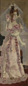 Portrait of Nadezhda Zabela-Vrubel at the Grand Piano by Mikhail Alexandrovich Vrubel