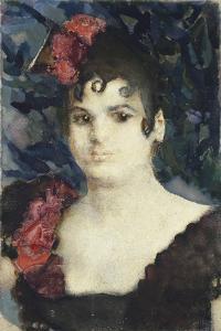 Portrait of Tatyana Lyubatovich as Carmen, 1890S by Mikhail Alexandrovich Vrubel