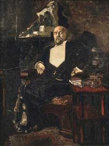Portrait of the Founder of the First Russian Private Opera Savva Mamontov (1841-191), 1897 by Mikhail Alexandrovich Vrubel