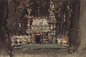 Stage Design for the Opera Hansel Und Gretel by E. Humperdinck, 1895 by Mikhail Alexandrovich Vrubel