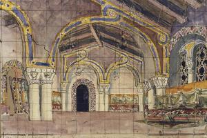 Stage Design for the Opera the Tsar's Bride by N. Rimsky-Korsakov, 1899 by Mikhail Alexandrovich Vrubel