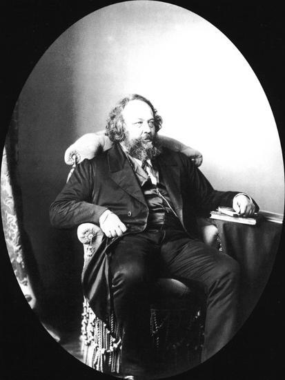 Mikhail Bakunin, Russian Revolutionary and Theorist of Anarchism, 1863-Sergei Levitsky-Giclee Print