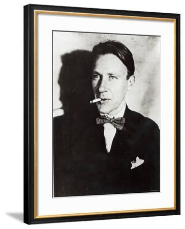 Mikhail Bulgakov, Time of Production of His Play The Days of the Turbins, Moscow Art Theatre, 1926--Framed Photographic Print