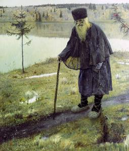 The Hermit by Mikhail Vasilievich Nesterov