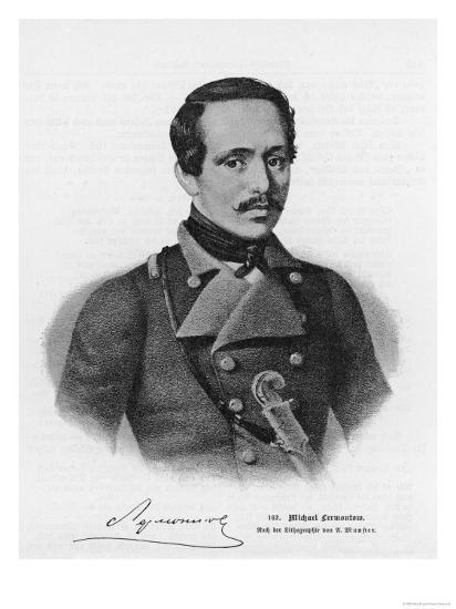 Mikhail Yurevich Lermontov Russian Writer--Giclee Print