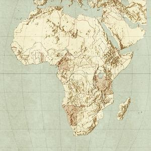 Map of Africa by Mikkel Juul