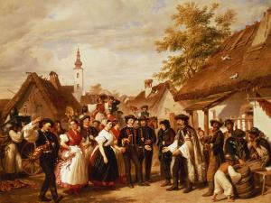 The Arrival of the Bride, 1856 by Miklos Barabas