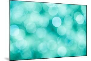 Blue, Green and Turquoise Festive Background by Mila May