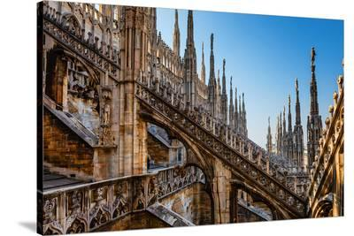 Milan Cathedral Roof Lombardy--Stretched Canvas Print
