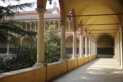 Milan, Italy, the Science and Technology Museum Leonardo Da Vinci, Cloister--Giclee Print
