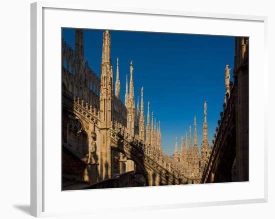 Milan, Milan Province, Lombardy, Italy. Spires on the roof of the Duomo, or cathedral.--Framed Photographic Print