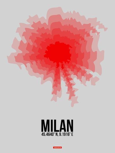 Milan Radiant Map 1-NaxArt-Art Print