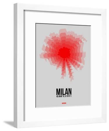 Milan Radiant Map 1-NaxArt-Framed Art Print