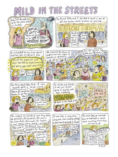 """Mild in the Streets"" - New Yorker Cartoon-Roz Chast-Premium Giclee Print"