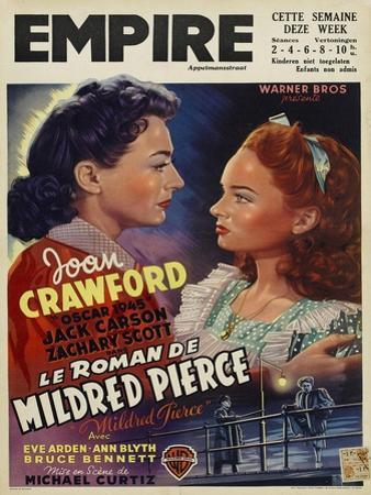 Mildred Pierce, Belgian Movie Poster, 1945