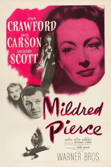 Mildred Pierce, Joan Crawford, Zachary Scott, Jack Carson, 1945--Art Print