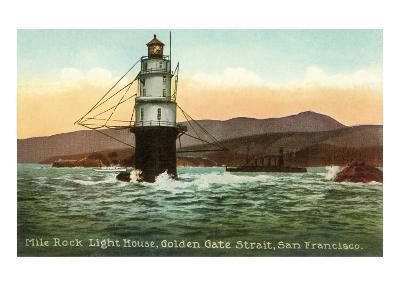 Mile Rock Lighthouse, San Francisco, California--Art Print