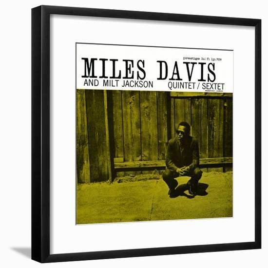Miles Davis and Milt Jackson - Quintet / Sextet--Framed Art Print