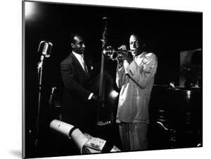 Miles Davis (C) with Oscar Pettiford and Bud Powell, Birdland, 1949