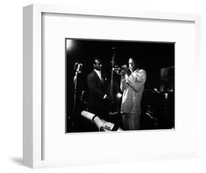Miles Davis (C) with Oscar Pettiford and Bud Powell, Birdland, 1949