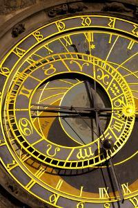 Astronomical Clock on the Town Hall, Old Town Square, Prague, Czech Republic, Euruope by Miles Ertman
