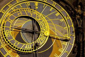 Astronomical Clock on the Town Hall, Old Town Square, Prague, Czech Republic by Miles Ertman