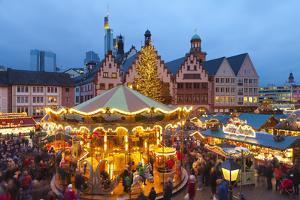 Christmas Market in Romerberg, Frankfurt, Germany, Europe by Miles Ertman
