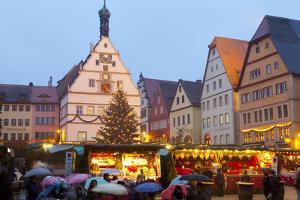 Christmas Market, Rothenburg Ob Der Tauber, Bavaria, Germany, Europe by Miles Ertman
