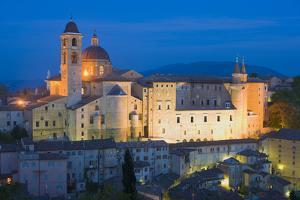 Ducal Palace at Night, Urbino, Le Marche, Italy, Europe by Miles Ertman
