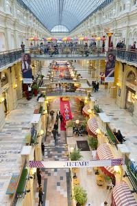 Interior of the GUM department store, Moscow, Russia, Europe by Miles Ertman