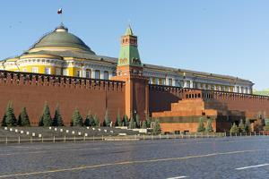 Lenin's Tomb and the Kremlin Walls, Red Square, UNESCO World Heritage Site, Moscow, Russia, Europe by Miles Ertman